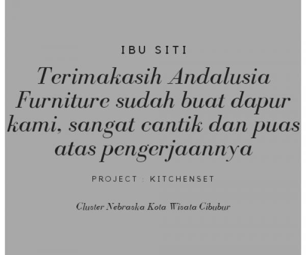 Testimoni Ibu Siti, Cibubur
