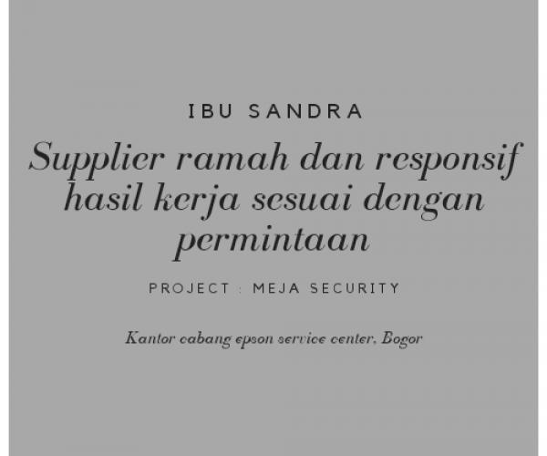 Testimoni Ibu Sandra, Jakarta